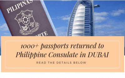 1000+ Of Passports Were Returned To Philippine Consulate In Dubai