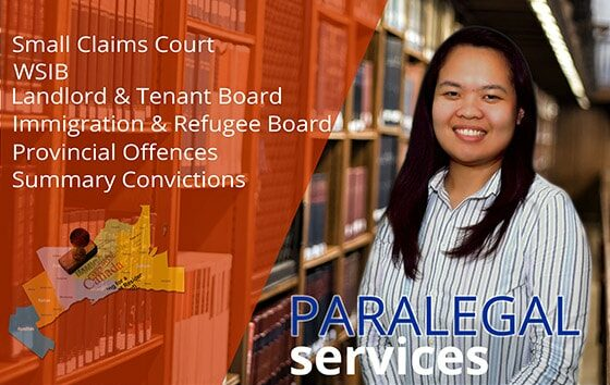 Paralegal Service is located in the 4th floor of the Philippine Consulate Toronto