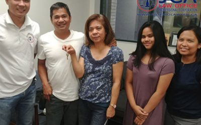 Avelino and Rosemarie on their recent home purchase